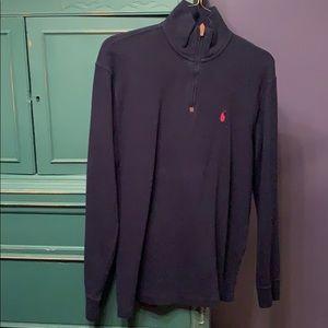 Navy 1/4 zip up pullover